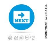 arrow sign icon. next button.... | Shutterstock .eps vector #627216116