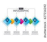 infographic flowchart template. ... | Shutterstock .eps vector #627216242