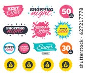 sale shopping banners. special...   Shutterstock .eps vector #627217778