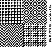 seamless abstract pattern set... | Shutterstock .eps vector #627218552
