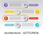 vector infographic 5 option... | Shutterstock .eps vector #627219656