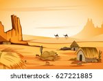 vector illustration of natural... | Shutterstock .eps vector #627221885