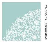 wedding invitation or greeting... | Shutterstock .eps vector #627230762