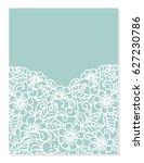 wedding invitation or greeting... | Shutterstock .eps vector #627230786