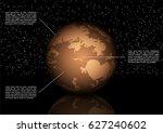 vector solar system space... | Shutterstock .eps vector #627240602