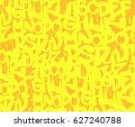 yellow background graffiti  | Shutterstock .eps vector #627240788
