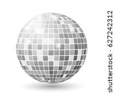 disco ball isolated... | Shutterstock .eps vector #627242312