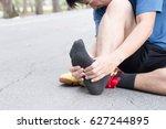 plantar fasciitis  sport injury ... | Shutterstock . vector #627244895
