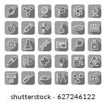 science  icons  contour drawing ... | Shutterstock .eps vector #627246122