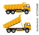tipper truck. realistic vector... | Shutterstock .eps vector #627250688