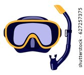 Scuba Mask And Snorkel Isolated ...