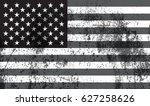 grunge usa flag.vector american ... | Shutterstock .eps vector #627258626