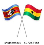 swazi and ghanaian crossed... | Shutterstock .eps vector #627264455