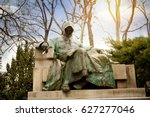 statue of anonymous in the city ... | Shutterstock . vector #627277046