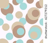 cute colorful dots seamless... | Shutterstock .eps vector #627279212