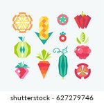 geometrical vector icons' set... | Shutterstock .eps vector #627279746
