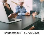 co working team meeting concept ... | Shutterstock . vector #627280526