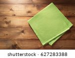 cloth napkin on wooden... | Shutterstock . vector #627283388