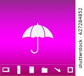 umbrella icon vector. flat...