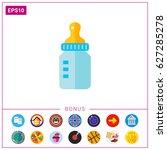 baby bottle icon | Shutterstock .eps vector #627285278