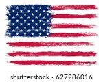 grunge usa flag. american flag. | Shutterstock .eps vector #627286016
