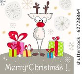 vector cute christmas greeting... | Shutterstock .eps vector #62728864