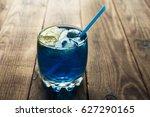 Light Blue Alcoholic Drink...