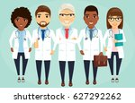 a team of doctors lined up... | Shutterstock .eps vector #627292262
