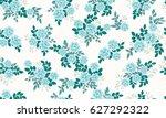 seamless random folk pattern in ... | Shutterstock .eps vector #627292322