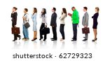 full length portrait of men and ... | Shutterstock . vector #62729323