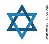 editable blue star of david | Shutterstock .eps vector #627294008