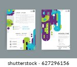 cards in modern abstract style... | Shutterstock .eps vector #627296156
