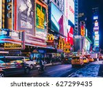 new york city  usa  march 18 ... | Shutterstock . vector #627299435