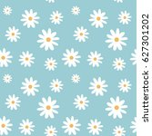 chamomile on a light blue color ... | Shutterstock . vector #627301202