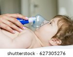 baby inhalation | Shutterstock . vector #627305276
