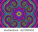 tie dye background. hippie... | Shutterstock .eps vector #627309452