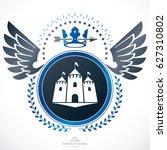 heraldic coat of arms... | Shutterstock . vector #627310802