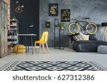 modern studio flat of a man... | Shutterstock . vector #627312386