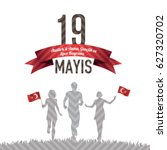 may 19th  turkish commemoration ... | Shutterstock .eps vector #627320702