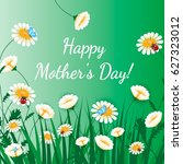 happy mothers day greeting card.... | Shutterstock .eps vector #627323012