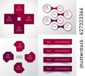 vector infographic set.... | Shutterstock .eps vector #627323366