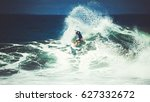 surfer on the wave. the surfer... | Shutterstock . vector #627332672