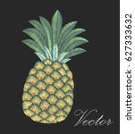 embroidery pineapple.... | Shutterstock .eps vector #627333632