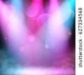 floodlights illuminate the...   Shutterstock .eps vector #627334568