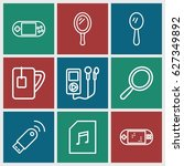 portable icons set. set of 9...   Shutterstock .eps vector #627349892