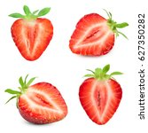 strawberry half collection... | Shutterstock . vector #627350282