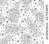 seamless vector hand drawn... | Shutterstock .eps vector #627354842