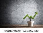 small plant in pot shaped like... | Shutterstock . vector #627357632