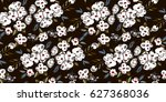 abstract flowers pattern | Shutterstock .eps vector #627368036