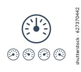 info graphic gauge elements.... | Shutterstock .eps vector #627370442